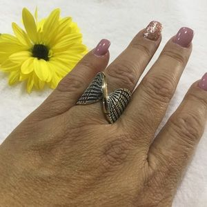 NEW Sterling Silver and gold multicolor Ring